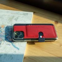 스매스 아이폰11프로 가죽 포켓 바 카드 케이스 이지포켓H_레드/네이비