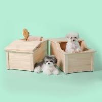 비기 강아지욕조 편백나무 강아지스파