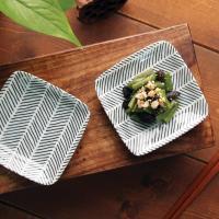 일본식기 헤링본 정사각접시