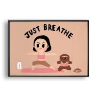 Just Breathe / 일러스트 액자