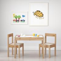 이케아 LATT 어린이테이블+의자2