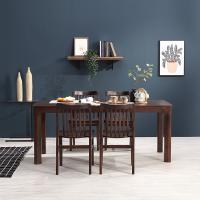휴치 고무나무 원목 와이드 식탁 세트 4인용 의자형 B