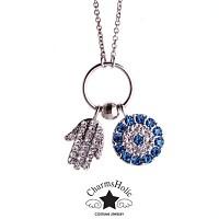 [참스홀릭]necklace Crystal blue palm ckt104