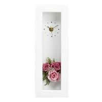 [시들지 않는 영원함 프리저브드 플라워] 화이트 러블리 핑크 시계 S