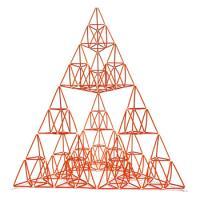 [G12521 4D프레임] 시에르핀스키 삼각형(이등변 3단계)