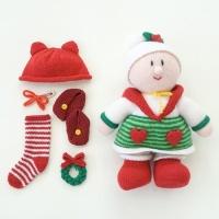 [멜로우] 니팅 키트 : 크리스마스 신생아 곰돌이모자