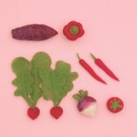 하마나카 빨간 채소 키트 양모펠트