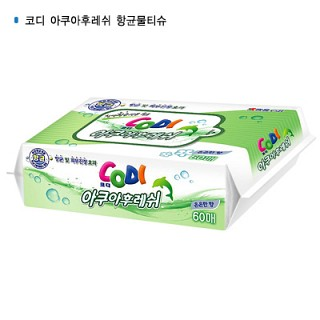 쌍용 코디 아쿠아후레쉬항균 물티슈60매