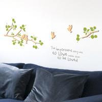 [우드스티커] 새와나무가지 (반제품)