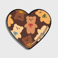 Dot ribbon bear-brown(하트톡)