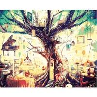 DIY 명화그리기키트 - 삶의 나무 40x50cm (물감2배, 컬러캔버스, 명화, 풍경화, 삶, 나무)