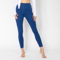 여성 운동복 플라워 요가레깅스 DFW4022 블루