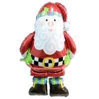 크리스마스 은박풍선 슈퍼쉐입 - 에어워커 산타