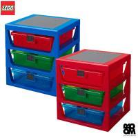 [LEGO] 3단 서랍형 정리함 2종/ 정품 레고놀이판 포함