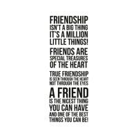 클리어 스탬프 friendship