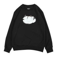 티라미슈냥 기모 맨투맨 - 블랙