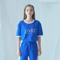 비비드 링거 티셔츠 (블루)
