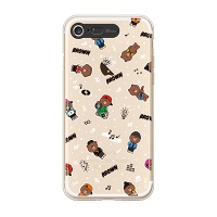 iPhone7 LINE FRIENDS BROWN PATTERN-S Light UP Case