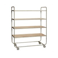 [Hubsch]Trolley w/4 shelves, oak/iron, nature 889052 선반장