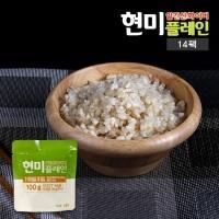 알긴산화이버 현미플레인 즉석밥/곤약밥 100g x 14팩