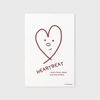 [어프어프] 엽서 Heart beat-red