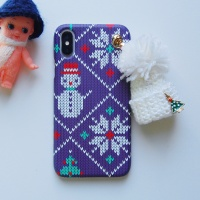 크리스마스 케이스-뜨개 방울모자