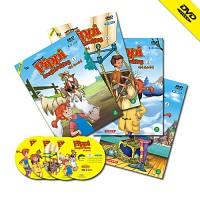 [영어 DVD] Pippi Long Stocking 삐삐롱스타킹 애니메이션 1집(4 disc) /초등영어/유아영어