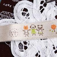 zakka DIY 빈티지 라벨 Ver.2-13 캔버스 friends 20mm(1yard)