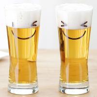 메트로폴리탄 스마일 맥주잔 340ml 2p(선물용)