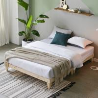 마루형 원목 침대 Q (독립스프링매트) OT065