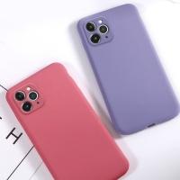 아이폰11 PRO MAX 솔리드 컬러 젤리 휴대폰 케이스