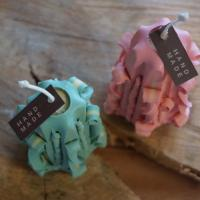 수제 천연 밀랍 조각캔들