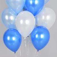 천장풍선세트 블루오션(풍선20개+컬링리본+스폰지닷)