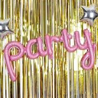 홈파티 이니셜은박풍선 party 핑크