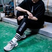 ODDKIDS 남자 여자 조거팬츠 화이트 블랙 스트릿 패션