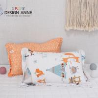 [디자인엔] 알러지케어 캠핑 아동솜베개-오렌지