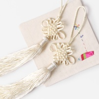 연미색 전통 매듭 노리개 (2개)