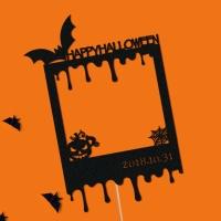 (주문제작) 페이퍼 폴라로이드 할로윈 토퍼 - 박쥐