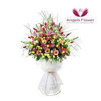 [엔젤스플라워] 축하1단(지역한정) 전국꽃배달 AGFTTW07