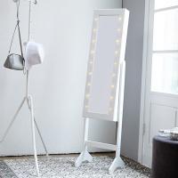 [베스트리빙]수납형 LED 조명 전신거울(JC037-1-W)
