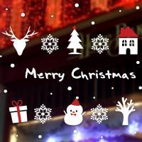제제데코 크리스마스 눈꽃 스티커 장식 CMS4J252
