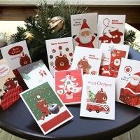 크리스마스카드/성탄절/트리/산타 미니세트 12종 set (FS510)