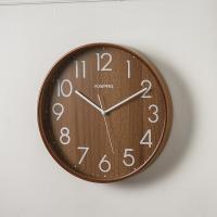 카파 무소음 W683 월넛 자작나무라운드 원목벽시계