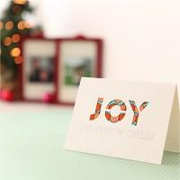 핸드메이드 크리스마스 카드 (패브릭)-조이