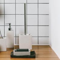테라조 화장실 브러쉬홀더 (화이트)