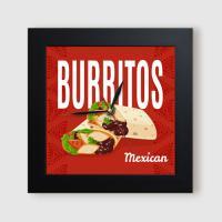 ct875-멕시코요리들_미니액자벽시계