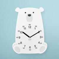 [베짓] 러블리 북극곰 무소음 벽시계