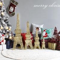 빈티지 골드에펠탑 크리스마스 전구장식 90cm