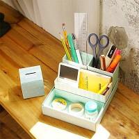 [1+1행사] 풋잇백 민트 디자인 소품정리함
