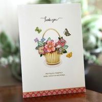 카드/축하카드/감사카드/연하장 꽃향기가득히 FT215-4
